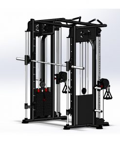 best compact home gym dual adjustable pulley smith machine - front view