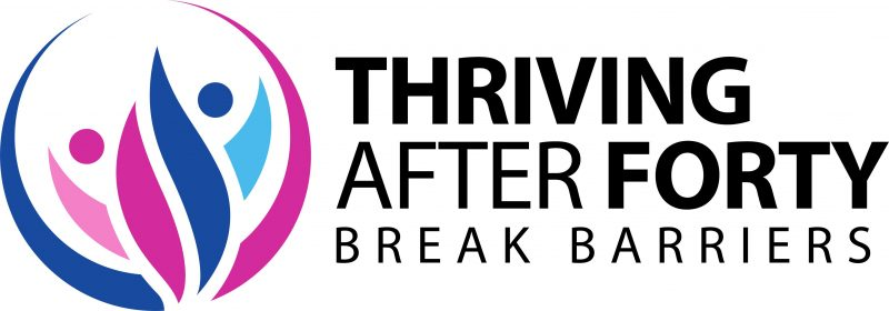 Thriving After Forty Logo for Small Treadmill