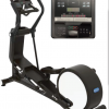 compact elliptical and cross trainer photopraph in white background and details of the screen