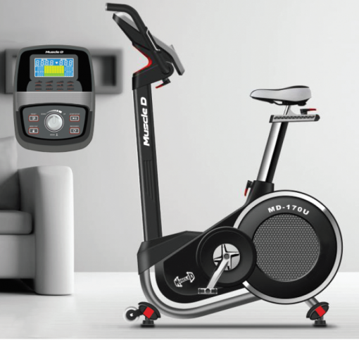 The Home Exercise Bike with details of the screen