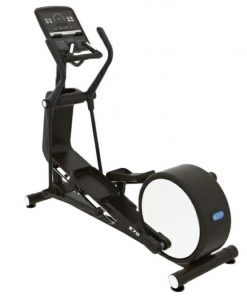 compact elliptical and cross trainer photograph on white background